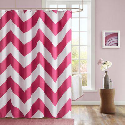 Pink Chevron Curtains