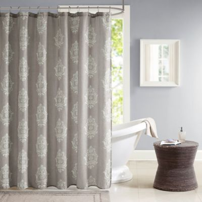 Madison Park Montclair 72-Inch x 72-Inch Texture Printed Shower Curtain in Grey
