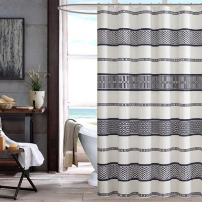Black Printed Shower Curtain