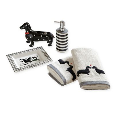 HipStyle Olivia 5-Piece Bath Accessory Set in Black/Grey