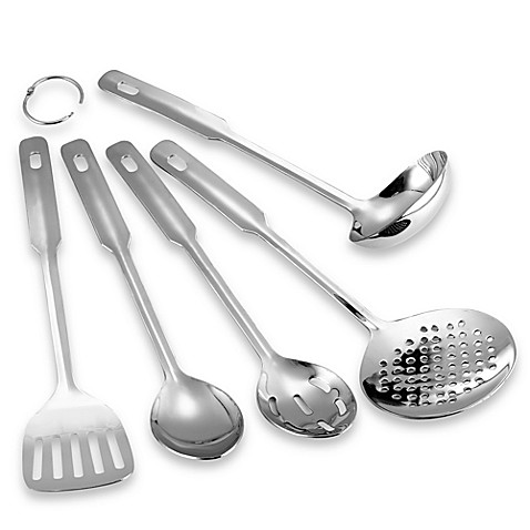 Stainless Steel 5-Piece Utensil Set - BedBathandBeyond.com