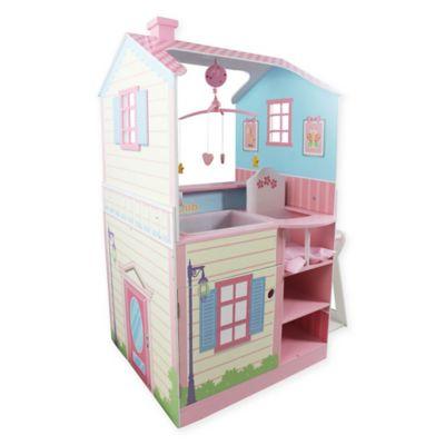 Teamson Kids Baby Nursery Doll House in Pink