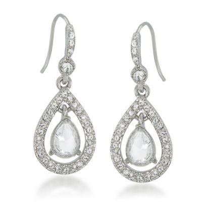Carolee New York Kate Crystal Teardrop Earrings