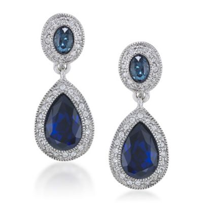 Carolee New York Bethany Crystal Drop Clip-On Earrings