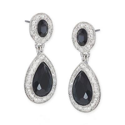 Carolee New York Adrianna Crystal Drop Pierced Earrings
