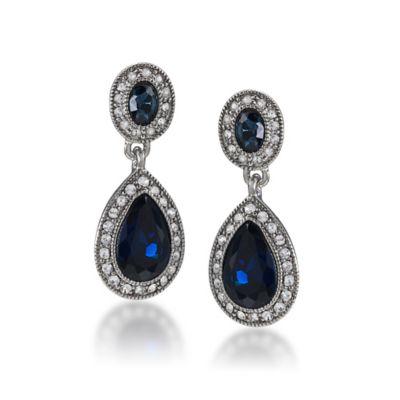 Carolee New York Bethany Crystal Drop Pierced Earrings