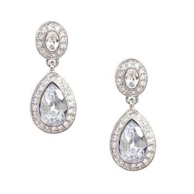 Carolee New York Jessica Crystal Drop Pierced Earrings