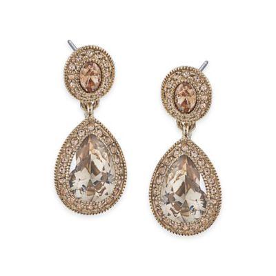 Carolee New York Bridget Crystal Double Drop Pierced Earrings