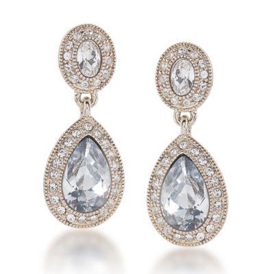 Carolee New York Catherine Crystal Drop Pierced Earrings