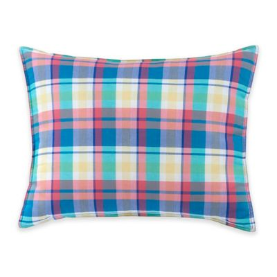 Southern Tide® Prep Plaid Reversible Standard Pillow Sham in Blue/Red