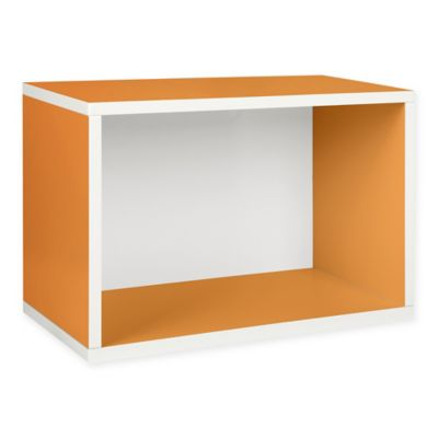Way Basics Large Stackable Rectangle Shelf in Orange