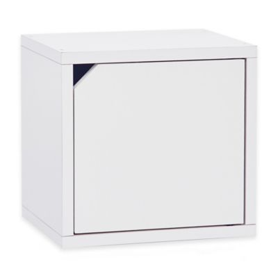 Way Basics Connect Storage Cube with Door in White