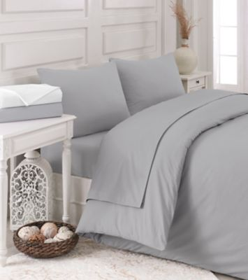 Linum Home Textiles Pera King Duvet Cover Set in Soft White