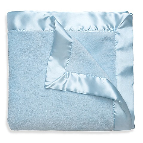 Buy Elegant Baby 174 Satin Trimmed Blanket In Blue From Bed