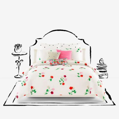 kate spade new york Willow Court Twin Duvet Cover Set in Red