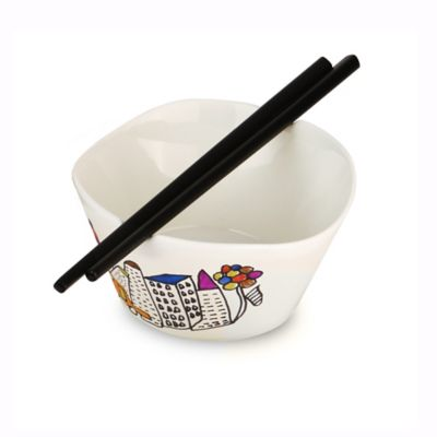 BergHOFF® Eclipse Codriez Rice Bowls with Chopsticks (Set of 2)