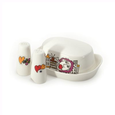 BergHOFF® Eclipse Codriez Salt and Pepper Shakers with Butter Dish