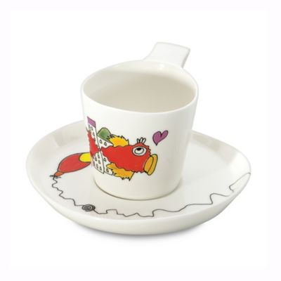 BergHOFF® Eclipse Codriez Teacups and Saucers (Set of 2)