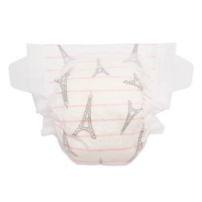 Honest 29-Pack Size 4 Diapers in Eiffel Tower Stripe Pattern