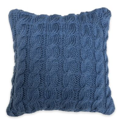 Park B. Smith® The Vintage House Classic Cable Square Throw Pillow in Denim