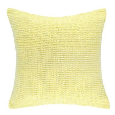 Newport Jigsaw Square Throw Pillow in Pale Yellow