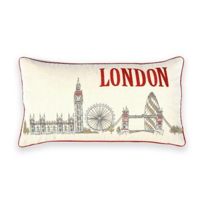 """London"" Sketch City Oblong Throw Pillow"