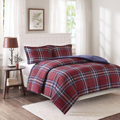 Premier Comfort Bernard XL 3M Scotchgard Down Alternative Cal/King Comforter Mini Set in Red