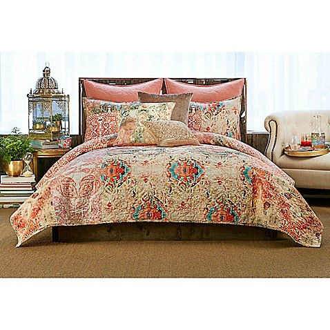 Tracy Porter Poetic Wanderlust Wish Quilt In Peach Bed