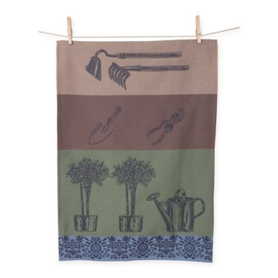 European Jacquard Garden Kitchen Towels (Set of 2)