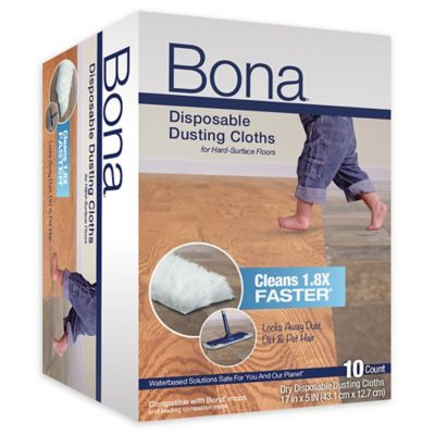 Bona® 10-Pack Disposable Dusting Cloths in Blue
