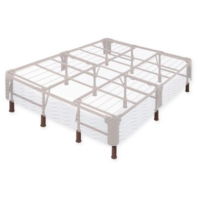 Comfort Revolution No Stress Premium Steel California King Mattress Foundation in White/Grey