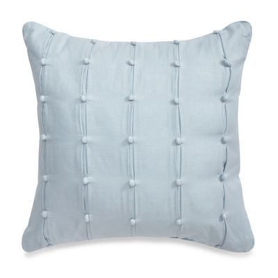 Real Simple® Anya Pompom Square Throw Pillow in Dusty Blue