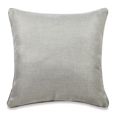 Real Simple® Anya Basket Weave Square Throw Pillow in Dusty Blue