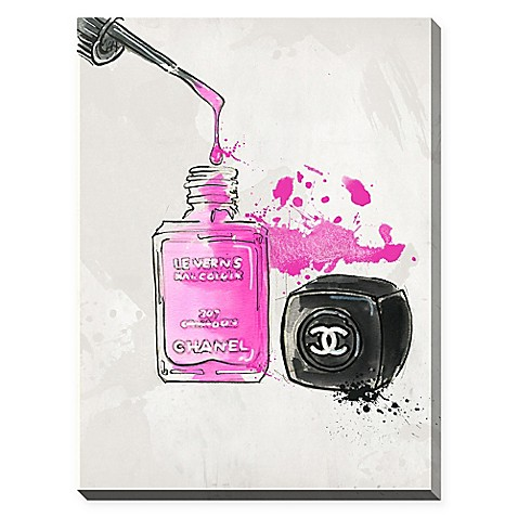 By Jodi Chanel Nail Polish Giclee Stretched Canvas Wall