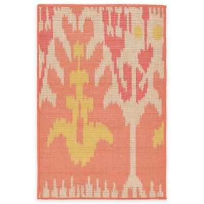 Liora Manne Playa Ikat 1-Foot 11-Inch x 2-Foot 11-Inch Indoor/Outdoor Accent Rug in Orange