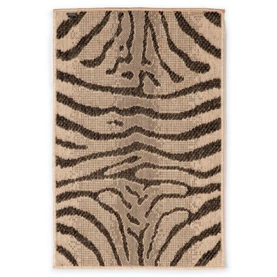 Liora Manne Terrace Zebra Stripes 1-Foot 11-Inch x 2-Foot 11-Inch Indoor/Outdoor Rug in Charcoal