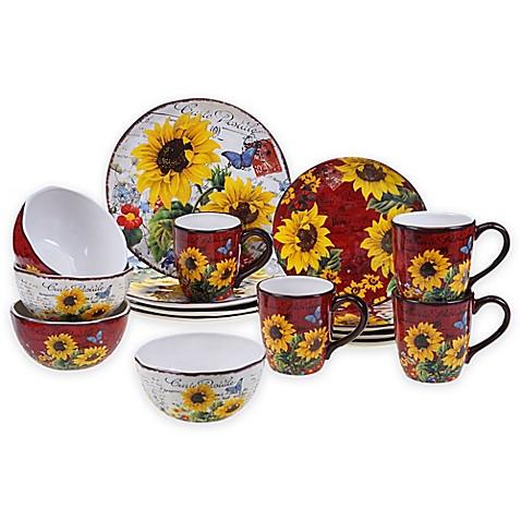 Buy Certified International Sunflower Meadow 16 Piece