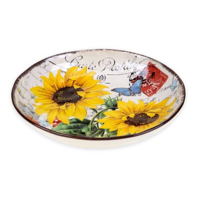 Certified International Sunflower Meadow Pasta/Serving Bowl
