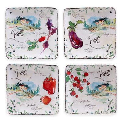 Certified International Villa Canapé Plates (Set of 4)