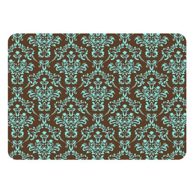 The Softer Side by Weather Guard™ 18-Inch x 27-Inch Falcon Crest Kitchen Mat in Chocolate/Blue