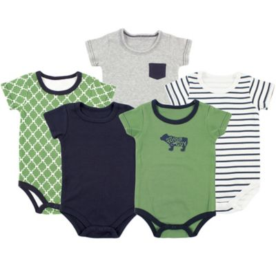 BabyVision® Yoga Sprout Size 3-6M 5-Pack Bear Bodysuits in Green