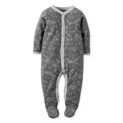 carter's® Size 3M Forest Snap-Front Footie in Grey