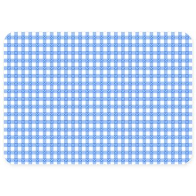 The Softer Side by Weather Guard™ 23-Inch x 36-Inch Gingham Kitchen Mat in Blue