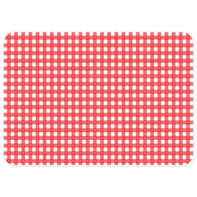The Softer Side by Weather Guard™ 23-Inch x 36-Inch Gingham Kitchen Mat in Red