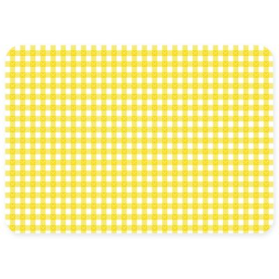 The Softer Side by Weather Guard™ 23-Inch x 36-Inch Gingham Kitchen Mat in Yellow