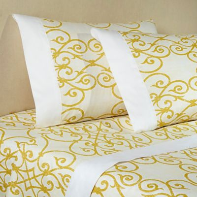 Downtown Company Freccia Full Sheet Set in Ivory/Gold