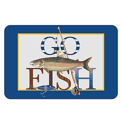 The softer side by weather guard go fish kitchen mat for Closest fishing store