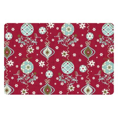The Softer Side by Weather Guard™ 18-Inch x 27-Inch Holiday Ornaments Kitchen Mat