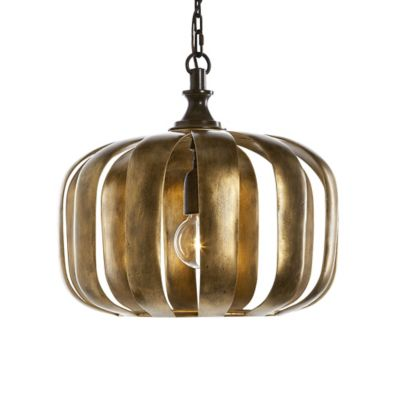 Uttermost Zucca Pendant Light in Antique Gold