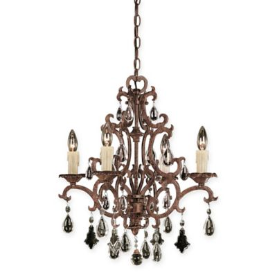 Savoy House Florence 4-Light Chandelier in New Tortoise Shell